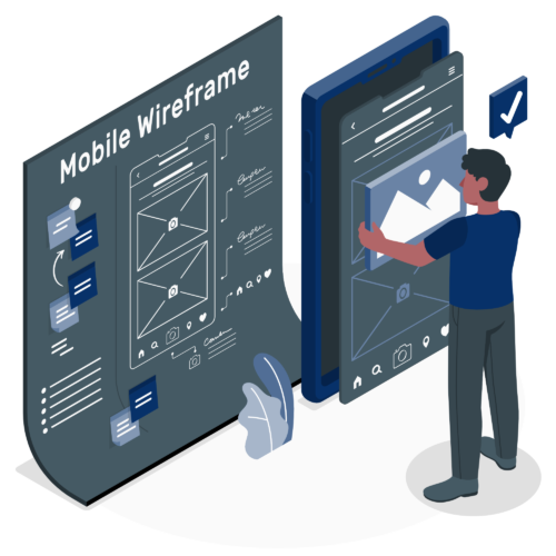 Mobile wireframe-amico (1)